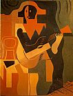 Juan Gris Harlequin with Guitar painting