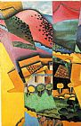 Juan Gris Landscape at Ceret painting