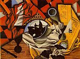 Juan Gris Pears and Grapes on a Table painting