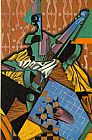 Juan Gris Violin and Checkerboard painting