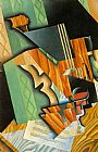 Juan Gris Violin and Glass painting