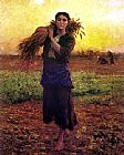 Jules Breton At The End of the Day painting