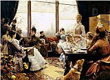 Julius LeBlanc Stewart Five O'clock Tea painting