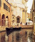 Venice paintings - Rio Della Maddalena by Julius LeBlanc Stewart