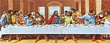 Leonardo da Vinci large picture of the last supper painting