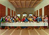 Leonardo da Vinci the picture of the last supper painting
