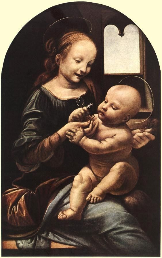 Leonardo da Vinci Madonna with Flower