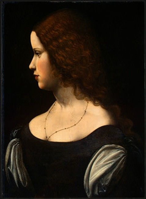 Leonardo da Vinci Portrait Of A Young Lady