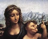 Leonardo da Vinci Madonna with the Yarnwinder detail painting