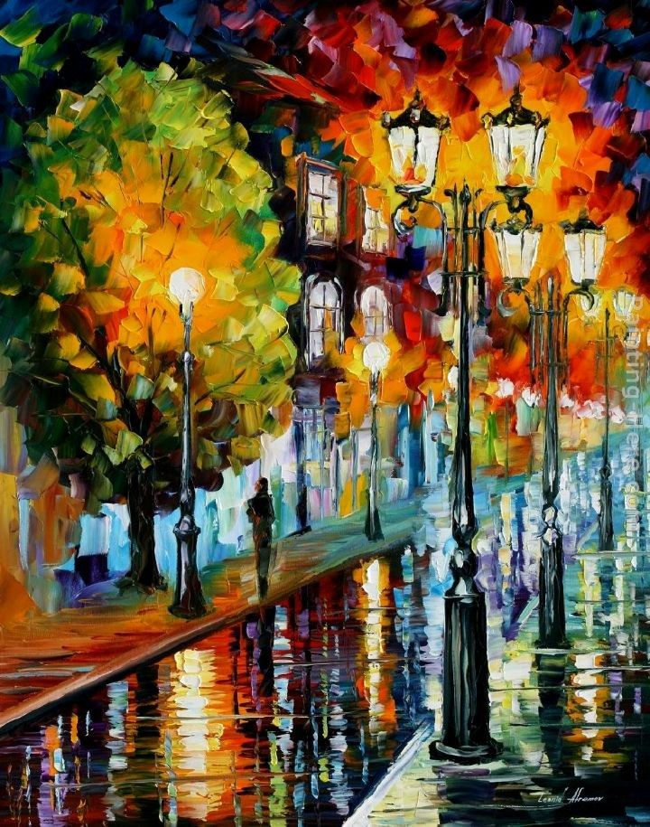 Leonid Afremov AFTER A NIGHT RAIN