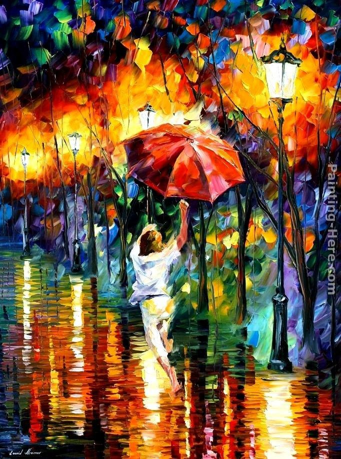 Leonid Afremov RED UMBRELLA