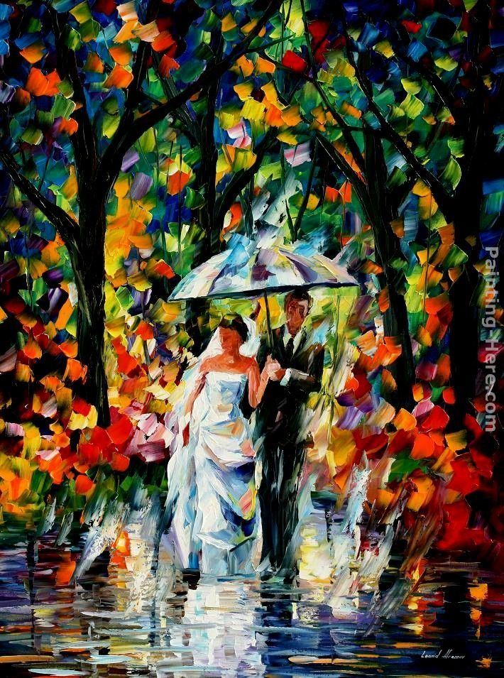 Leonid Afremov WEDDING UNDER THE RAIN