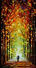 Leonid Afremov ALTAR OF TREES painting