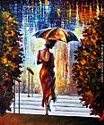 Leonid Afremov AT THE STEPS painting