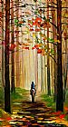 a grey horse Canvas Prints - AUTUMN STROLL ON A HORSE