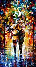 Leonid Afremov BONDED BY THE RAIN I painting