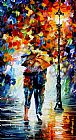 Leonid Afremov BONDED BY THE RAIN painting
