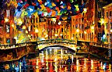 Leonid Afremov BRIDGE OVER HAPPINESS ST. PETERSBURG painting