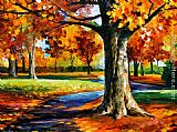 Leonid Afremov BRISTOL FALL painting