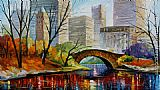 Leonid Afremov CENTRAL PARK NEW YORK painting