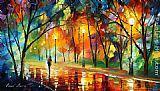 Leonid Afremov EVENING IN THE PARK painting