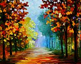 Leonid Afremov FOREST CLEARING painting