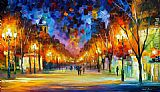 Leonid Afremov HOLIDAY AURA painting