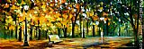 Leonid Afremov IN THE OLD PARK painting