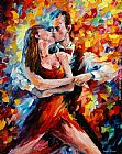 Leonid Afremov IN THE RHYTHM OF TANGO painting