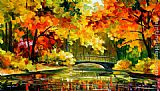 Leonid Afremov LITTLE BRIDGE painting