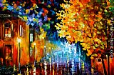 Leonid Afremov MAGIC RAIN painting