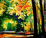 Leonid Afremov MORNING FOREST painting