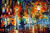 Leonid Afremov NIGHT I painting