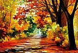 Leonid Afremov PATH OF SUN BEAMS painting