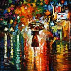 Leonid Afremov RAIN PRINCESS painting