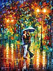 Leonid Afremov RAINY DANCE painting