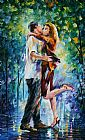 Leonid Afremov RAINY KISS painting
