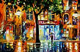 Leonid Afremov SECRETS OF WINDOWS painting