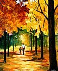 Leonid Afremov STROLL IN THE FOREST painting