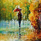 Leonid Afremov THE BEAUTY OF THE RAIN painting