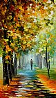 Leonid Afremov THE MUSIC OF THE FALL painting