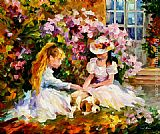 Leonid Afremov THREE FRIENDS painting