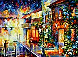 Leonid Afremov TOWN FROM THE DREAM painting