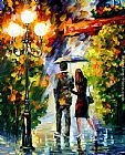 Leonid Afremov UNDER MY UMBRELLA painting