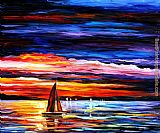 Leonid Afremov night sea painting