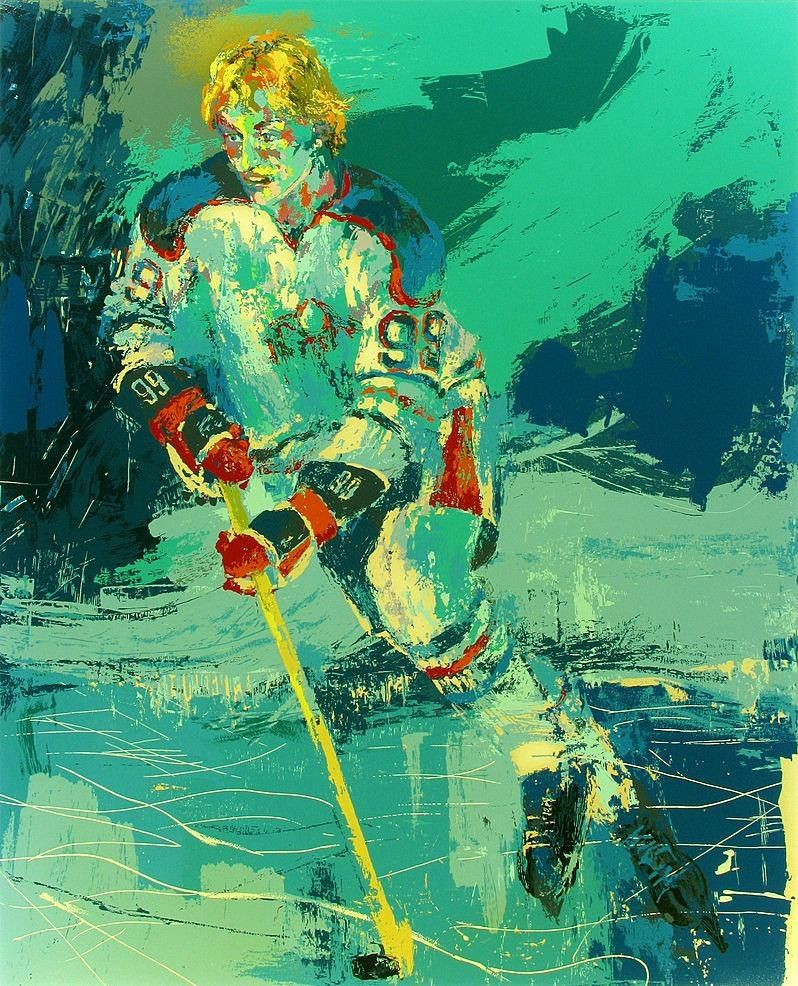 Leroy Neiman The Great Gretzky