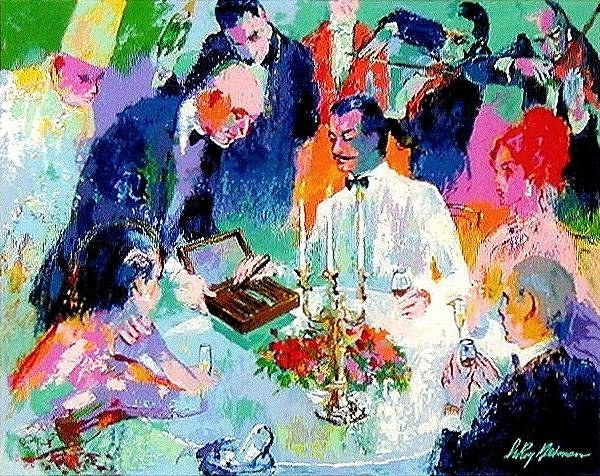 Leroy Neiman Wine, Women and Cigars