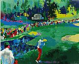Golf paintings - 16th at Augusta by Leroy Neiman
