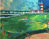 Golf paintings - 18th at Harbourtown by Leroy Neiman