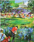 Leroy Neiman 18th at Valhalla painting